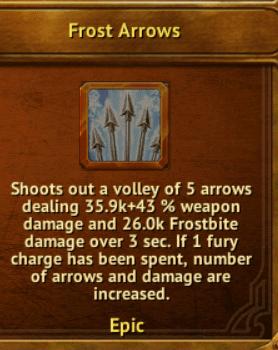 A - Frost Arrows