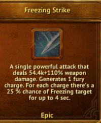 W - Freezing Strike