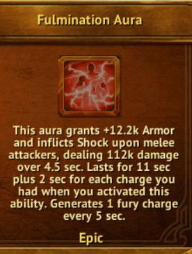 W - Fulmination Aura