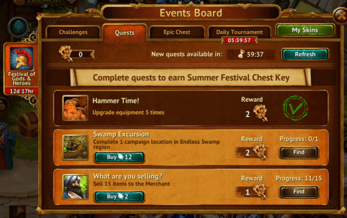 Quests Tab